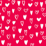 Vector heart icons seamless pattern background art for Valentine day Royalty Free Stock Images