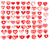 Vector Heart Icons & Symbols. Is a  illustration Royalty Free Stock Photos