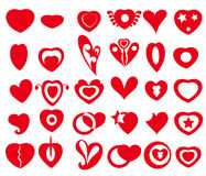 Vector Heart Icons & Symbols Royalty Free Stock Image