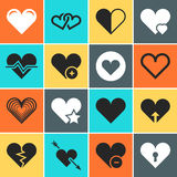 Vector heart icons for wedding and valentines day invitation cards Royalty Free Stock Photo