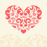Vector Heart. Vector illustration of abstract heart for your design Stock Photos