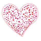 Vector heart illustration Royalty Free Stock Photography