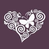Vector heart illustration, design element, valentines day, lace, love,tattoo stock illustration