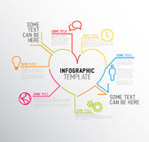 Vector Heart Infographic report template Stock Photos