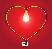 Vector heart lamp ideas concept Royalty Free Stock Photos