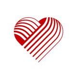 Vector heart logo. stock image