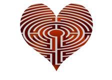 Vector heart looks like maze Stock Photography