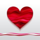 Vector Heart Made from Color Stripes Royalty Free Stock Images