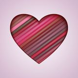 Vector Heart Made from Color Stripes Stock Images