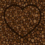 Heart made of colored coffee beans Royalty Free Stock Photography