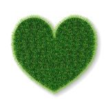 vector heart made of grass. Stock Photography