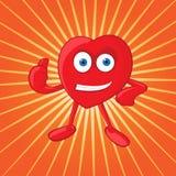 Vector Heart Mascot Royalty Free Stock Photography
