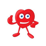 Vector Heart Mascot Stock Images