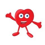 Vector Heart Mascot Stock Photos