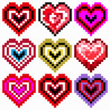 Vector Heart Pixel Icon Royalty Free Stock Image