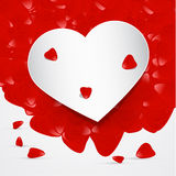 Vector Heart With Red Leaves Royalty Free Stock Photography