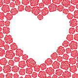Vector heart of roses. Vector heart of red roses Stock Images