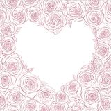 Vector heart of roses. Romantic vector heart of roses Royalty Free Stock Photo