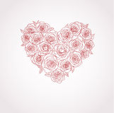 Vector heart of roses. Romantic vector heart of roses Stock Photo