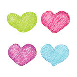 Vector heart set Royalty Free Stock Photo