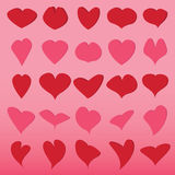 Vector of heart set Stock Photography