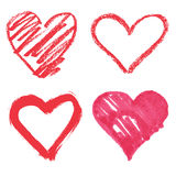 Vector heart set Royalty Free Stock Images