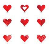 Vector heart set Royalty Free Stock Photos