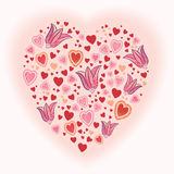 Vector heart shape Stock Images