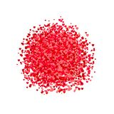VECTOR heart shape confetti, pile of hearts, romantic background, pink and red paper hearts. VECTOR heart shape confetti, pile of hearts, romantic background royalty free illustration