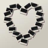 Vector heart shape of empty photos. Vector heart shape made of empty photos Stock Photos