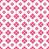 Red heart-shape flowers seamless vector pattern stock images
