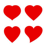 Vector heart shape icon Stock Images