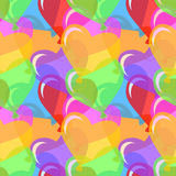 Vector heart shaped balloons background Royalty Free Stock Photos