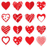 Vector Heart Shapes Stock Photography