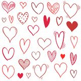Vector heart shapes royalty free stock photography