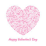 Vector Heart with small pink Hearts Valentines Day card Background. Stock Image