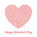 Vector Heart with small red Hearts Valentines Day Card Background. Stock Photo