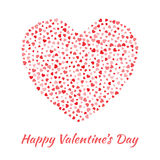 Vector Heart with small red Hearts Valentines Day card Background. Stock Images