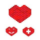 Vector heart of stone set Stock Image