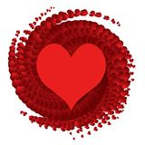 Vector heart - symbol of love Royalty Free Stock Image