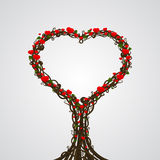 Vector heart tree card Royalty Free Stock Image