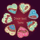 Vector heart for Valentine's Day design. Vector heart illustration for Valentine's Day design. The glazed Cookies Heart Stock Photography