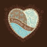 Vector heart for Valentine's Day design. Vector heart illustration for Valentine's Day design. The glazed Gingerbread Heart Royalty Free Stock Photo