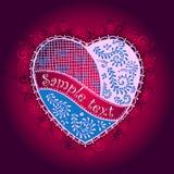 Vector heart for Valentine's Day design. Vector heart illustration for Valentine's Day design. The glazed Gingerbread Heart Stock Photo