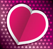 vector heart for valentines day Stock Photography