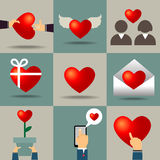 Vector heart for valentines day Royalty Free Stock Images
