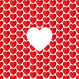 Vector heart Valentines day pattern Stock Images