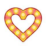 Vector heart of vintage lamps vector illustration