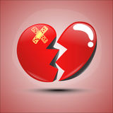 Vector heartbroken Royalty Free Stock Images