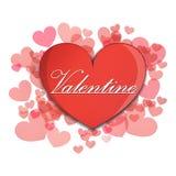 Vector heartbroken object Valentines  love Stock Image
